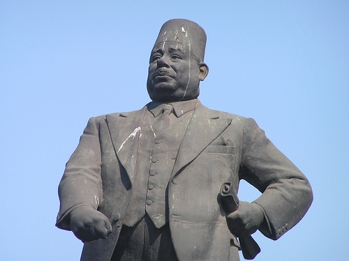 Ahmed Maher Statue