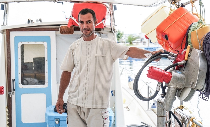 Mahmoud mousa fisherman greece