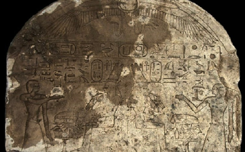 ancient egyptian stone slab discovery in kom ombo aswan