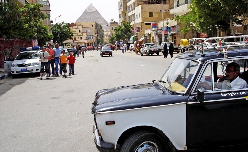 old egyptian taxi cab