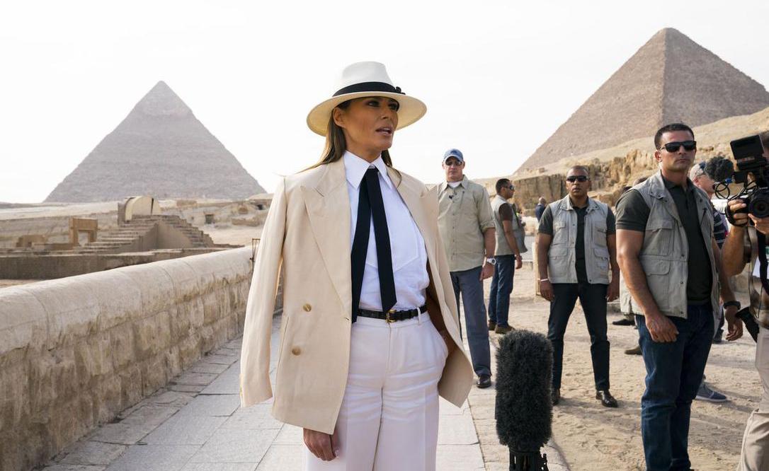 Melania Cairo Hotel Bill Africa Goodwill Tour