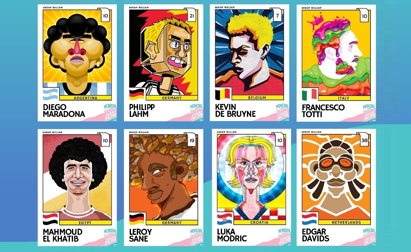 Egyptian Designs of Panini Stickers