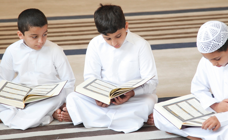 Egyptian kids learning Quran
