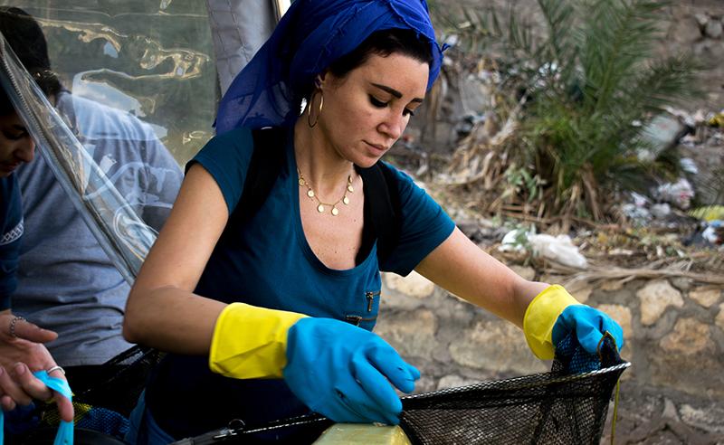 Arwa Gouda Cleaning the Nile