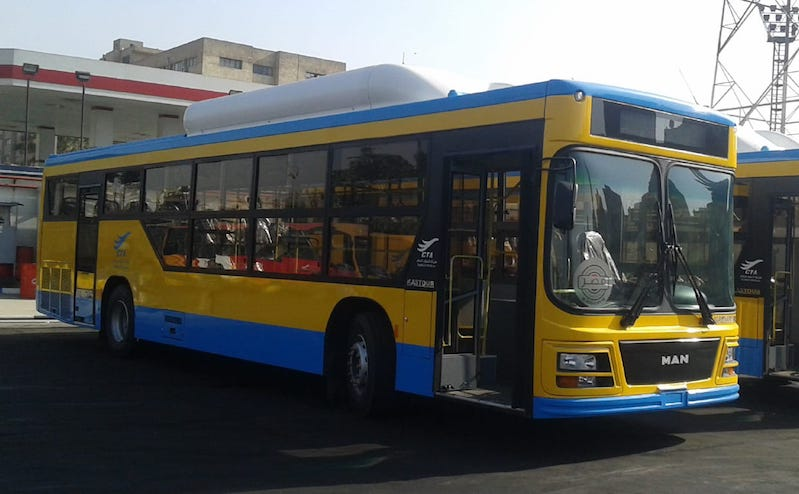 Natural Gas-Fueled bus