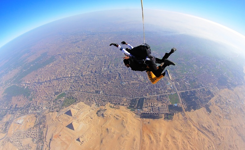 Alia Skydiving in Egypt