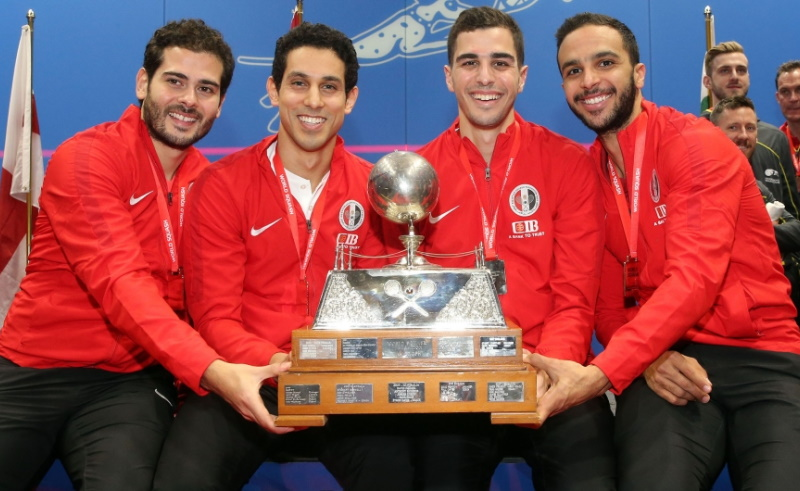Egyptian squash team