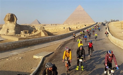 50 Cyclists from Around the World Make Their Way from The Giza Pyramids to Cape Town