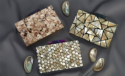 Egyptian Handbag Brand Drops Sickening Mother-of-Pearl Clutches Collection