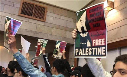 AUC Students Hold Anti-Zionist Walk-Out During Former US Ambassador Speech