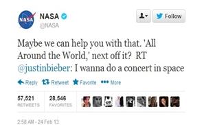 Bieber in Space