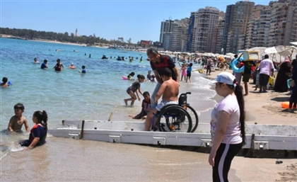 Alexandria's Mandara Beach Opens Area for People with Disabilities