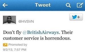 British Airways Fail at Twitter