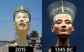 New Botched Nefertiti to be Dismantled