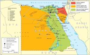 UK Advises Against Travelling to All Areas West Of the Nile