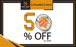 50% Off Mori Sushi With #HowIRoll