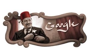 Google Doodle is Celebrating The Late Naguib El-Rihani's Birthday