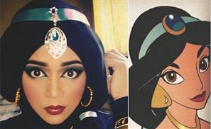 Incredible Makeup Artist Uses Hijab To Transform Into Disney Characters