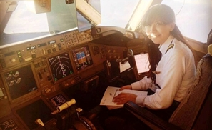 Egyptian Woman Becomes the First Female Pilot to Fly EgyptAir's Biggest Jet Airliner