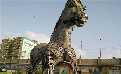 Stunning Horse Statue Made Out of Scrap Metal has Filled Egyptians with Awe