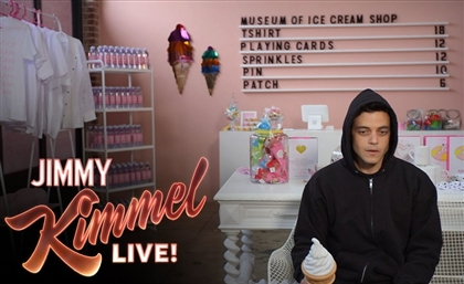 Video: Mr. Robot's Rami Malek Goes All Elliot at an 'Ice Cream Museum'