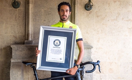 Egyptian Cyclist Breaks Guiness World Record for The Fastest Europe-Crossing by Bike