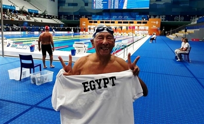 Video: 86-Year-Old Egyptian Swimmer Wins Bronze at FINA World Masters Championship