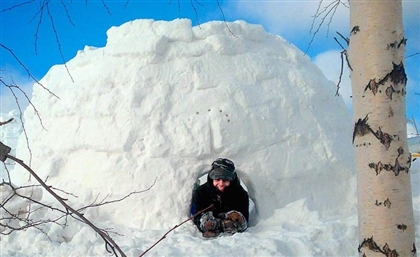 Egyptian Man Builds 'Best Igloo' in Russia