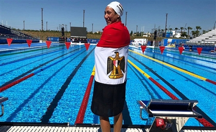 Egypt's Fastest Female Swimmer Farida Osman Breaks Record in Mediterranean Games