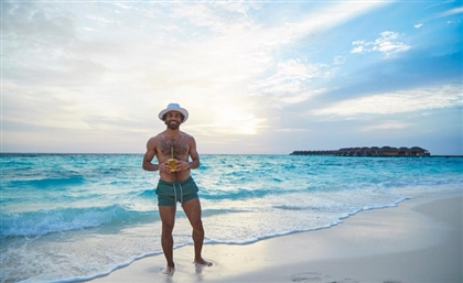 7 Photos From Mo Salah's Coconut-Infused Maldives Getaway