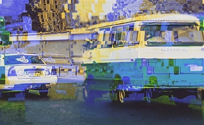 Egypt's Microbuses through the Eyes of This Trippy Artist