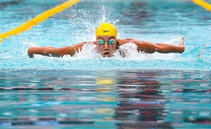 Egyptian Swimmer Farida Osman Scores Silver in 2019 FINA Champions Swim Series