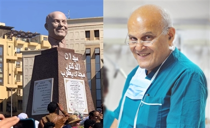 Statue Honouring Heart Surgeon Dr. Magdi Yacoub Unveiled at New Aswan Square