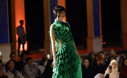 "Cairo Opera House Hosts ""Silk Road Impression"" Chinese Fashion Show"