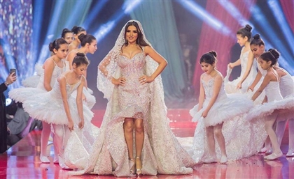 Mai Omar Models a $15 million Hany El Behairy Wedding Dress