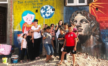 This Art Forum is Beautifying Burullus City's Walls and Boats in Kafr El Sheikh