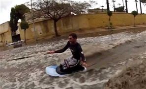 Video: Wake Boarding on Alexandria's Flooded Streets