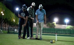 Comedy Cares and Plays Croquet