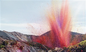 Volcano Spews Flower Petals