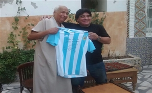 Maradona Meets Tunisian 'Hand of God' Referee