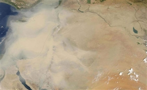 Check Out NASA's Amazing Picture from Space of This Week's Crazy Sandstorm