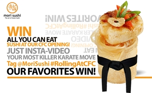 Win All You Can Eat Mori Sushi at CFC Launch