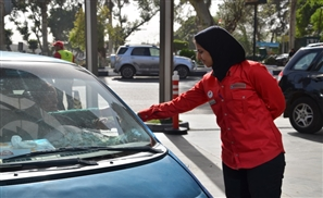 Female Workers at Egyptian Gas Station Mark Step Toward Gender Equality