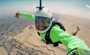 VIDEO: Skydiving Over The Pyramids Because Why Not?