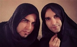 Iranian Men in Hijabs: Protesting Women Rights
