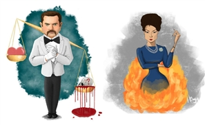 7 Characters From 'Grand Hotel' Amazingly Expressed Through Art