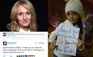 JK Rowling Sends Harry Potter E-Books to Young Fan in War-torn Aleppo