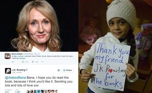 JK Rowling Sends Harry Potter E-Books to Young Fan in War-torn Aleppo