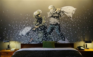 "Banksy Opens Hotel with ""Worst View in the World"" Facing Israel's West Bank Barrier in Bethlehem"