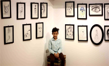 10-Year-Old Cairo Metro Vendor Launches Art Exhibition